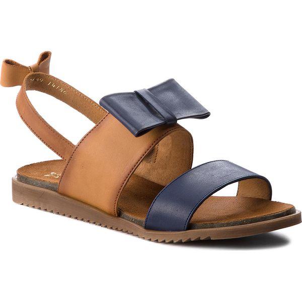 f0c1a1ec76b Sandały MACIEJKA - 03609-17 00-5 Granat - Brązowe sandały damskie ...