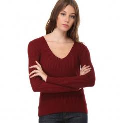 1e384dad71 Sweter w kolorze bordowym. Czerwone swetry nierozpinane damskie marki  William de Faye