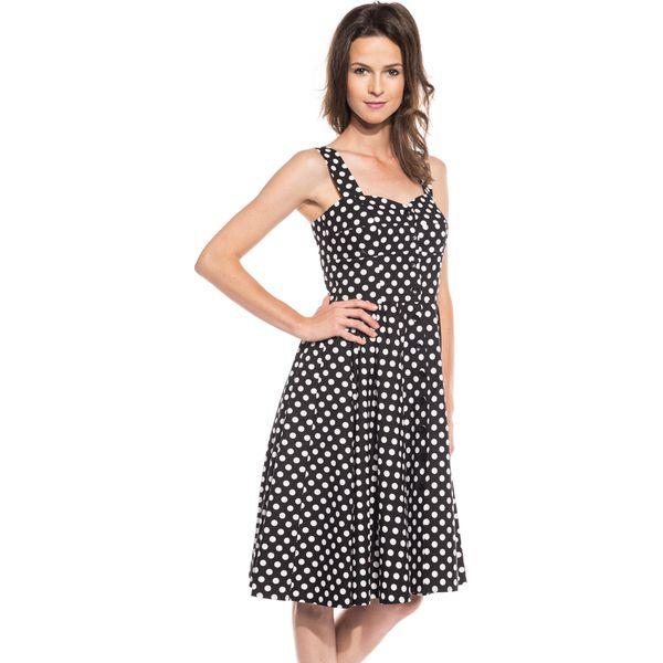 8bea092680 Czarno-biała sukienka typu PIN UP BIALCON - Białe sukienki damskie ...
