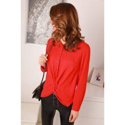 Czerwone koszule damskie ze sklepu IVET, z długim rękawem  pgkxm