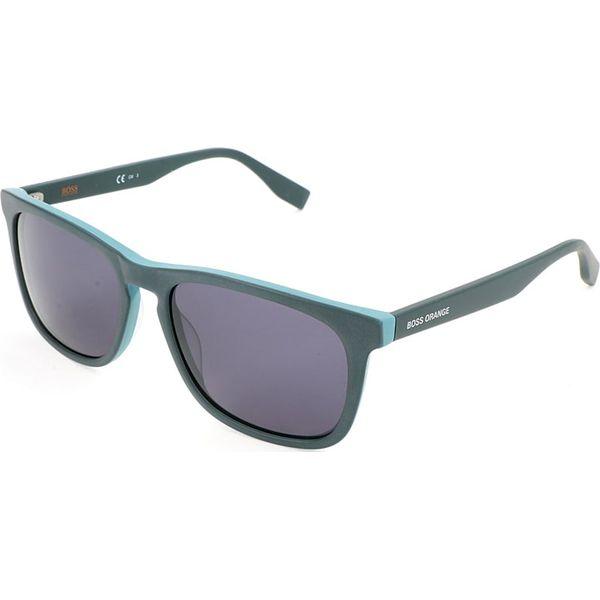 Męskie okulary przeciwsłoneczne w kolorze zielono szarym