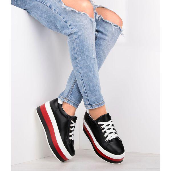 Buty sportowe damskie Ideal Shoes U 6273 Czarne