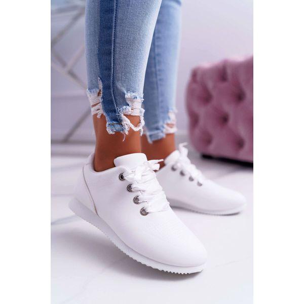 Sportowe Damskie Białe Buty Rhasta