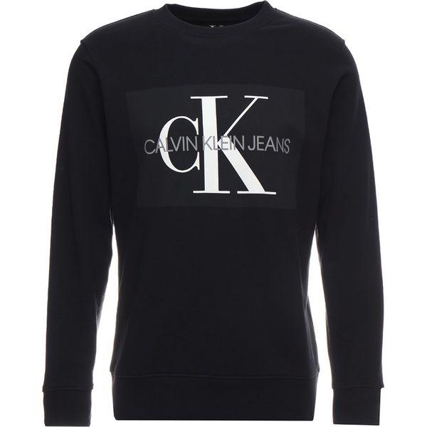 c08ad7dbe759a Calvin Klein Jeans CORE MONOGRAM LOGO Bluza black - Bluzy damskie ...
