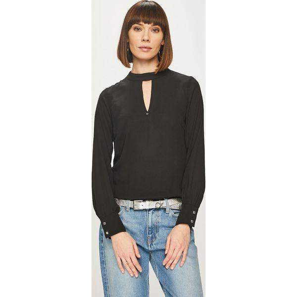 30546af37fdda1 Morgan - Bluzka - Czarne bluzki damskie Morgan, s, bez wzorów, z ...