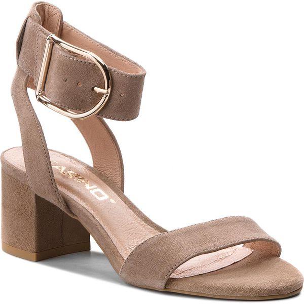 275a522619b6e Sandały KARINO - 2436/001-P Beż - Brązowe sandały damskie marki ...
