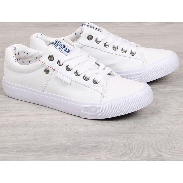 Trampki niskie męskie tekstylne białe Big Star AA174097 biały