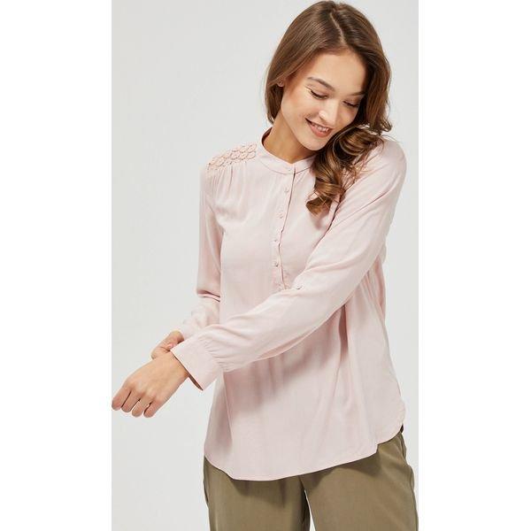 Koszula z łączonych materiałów Koszule damskie MOODO, bez  NI6op