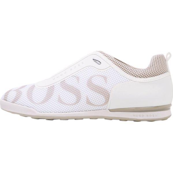 d7db02231ad90 BOSS ATHLEISURE ARKANSAS Tenisówki i Trampki white - Białe trampki męskie  marki BOSS ATHLEISURE, z materiału, Nike Roshe. W wyprzedaży za 408.85 zł.