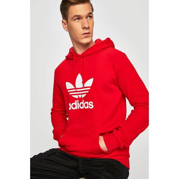 bluza adidas czerwona z kapturem damska