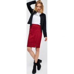 Zamszowa spódnica Spódnice damskie Kolekcja lato 2020