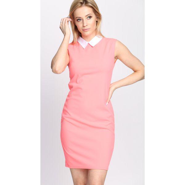 943b5b358704 Koralowa Sukienka Say Goodbye - Pomarańczowe sukienki damskie marki ...
