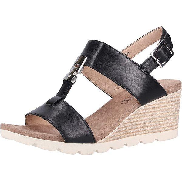 buy popular 5ae03 8daa9 Skórzane sandały w kolorze czarnym