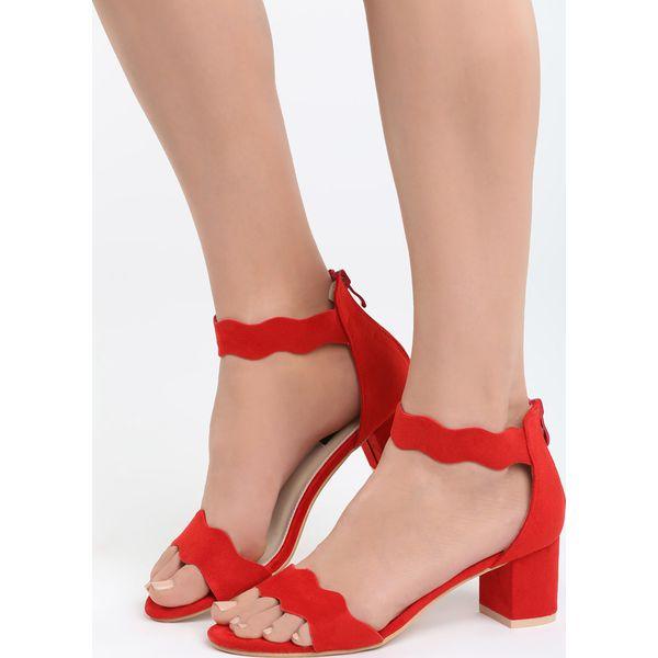 474319c18de120 Czerwone Sandały End Titles - Czerwone sandały damskie Born2be, z ...