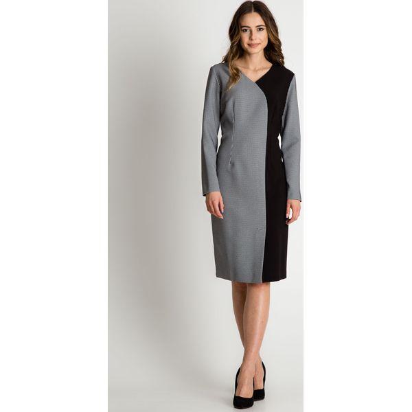 439c6e40 Asymetryczna sukienka z długim rękawem BIALCON