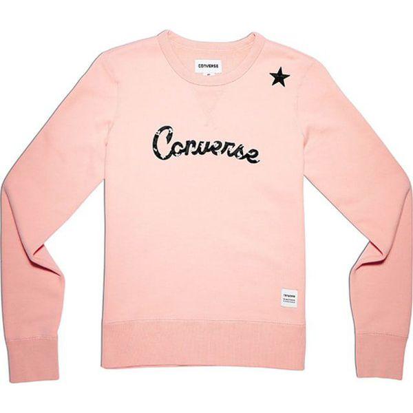 e770be54bda6a Bluza w kolorze jasnoróżowym - Bluzy damskie marki Converse. W ...