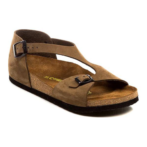4272f7569d0570 Skórzane sandały w kolorze piaskowym - Sandały damskie Comfortfüße ...