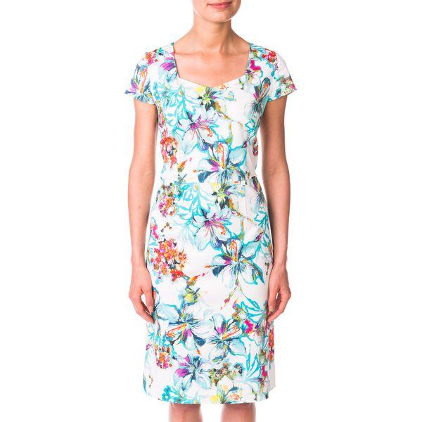 430ee40a5d Bawełniana sukienka w letnich barwach QUIOSQUE - Zielone sukienki ...
