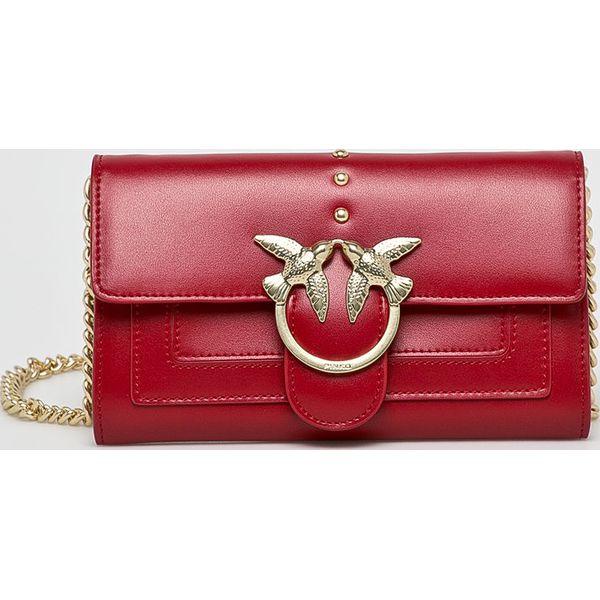 1c7b2e49aa1cd Pinko - Torebka skórzana - Różowe torebki wizytowe damskie Pinko. Za ...