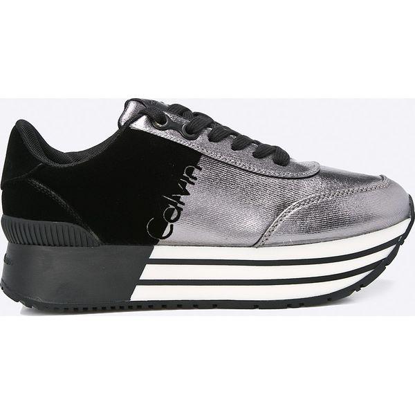 466c046cef9fe Calvin Klein Jeans - Buty - Szare obuwie sportowe damskie marki ...
