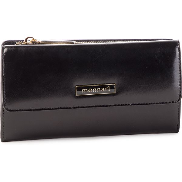 9fd9bc3bca8d6 Duży Portfel Damski MONNARI - PUR0720-020 Black - Czarne portfele ...