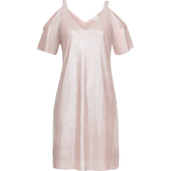 47c530d862 Sukienka z dżerseju z połyskiem bonprix różowo-srebrny - Sukienki ...