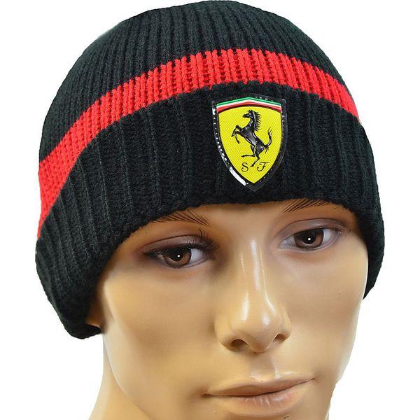 innowacyjny design zniżki z fabryki autentyczny Puma Czapka zimowa męska SF Beanie czarno-czerwona (C0151)