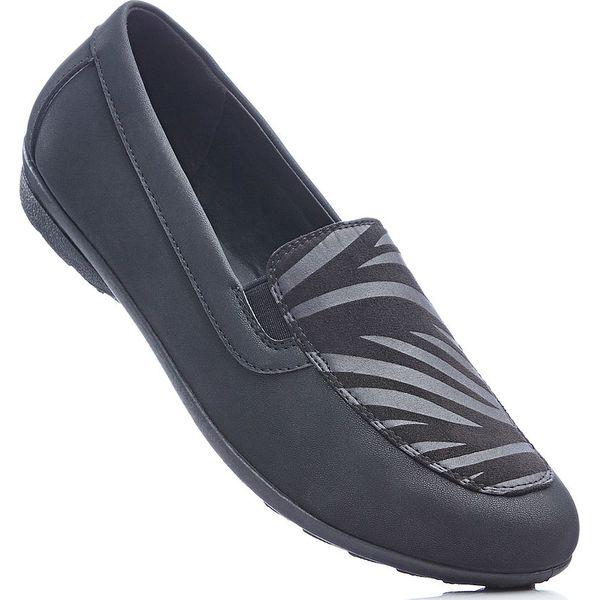 d6f4b190f4832c Wygodne buty wsuwane z pianką youfoam bonprix czarny - Czarne ...