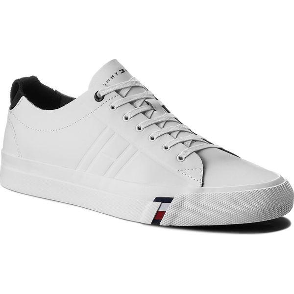 0cdee8359cfb7 Tenisówki TOMMY HILFIGER - Dino 1A FM0FM01214 White 100 - Białe ...