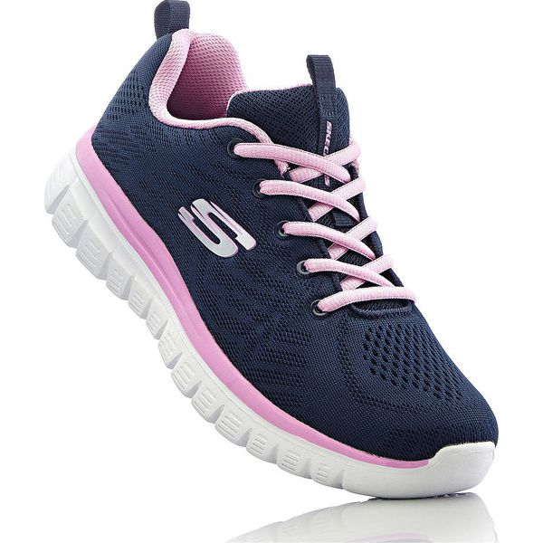 Sneakersy Skechers z pianką Memory bonprix ciemnoniebieski