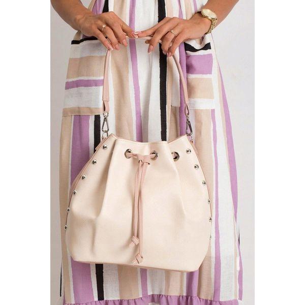 Torebka damska shopper bag worek 0004 różowa RÓŻOWY PUDROWY