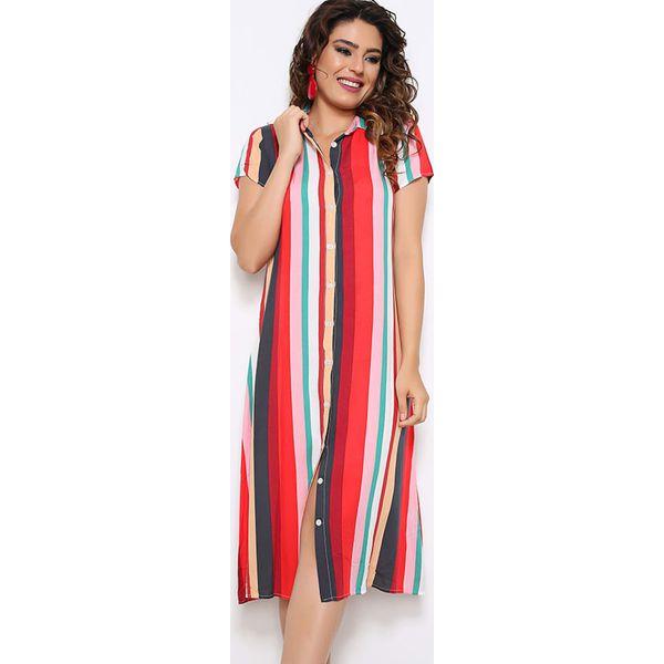 a19d317dae Sukienka w kolorze czerwonym ze wzorem - Sukienki damskie marki Next ...