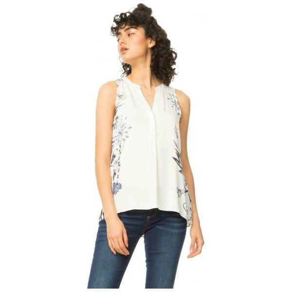 cbb863706924 Desigual Bluzka Damska Colette Xs Biały - Białe bluzki damskie marki ...