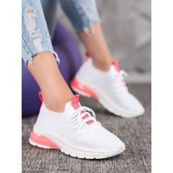 Bella Paris Sneakersy Z Siateczką Fashion białe
