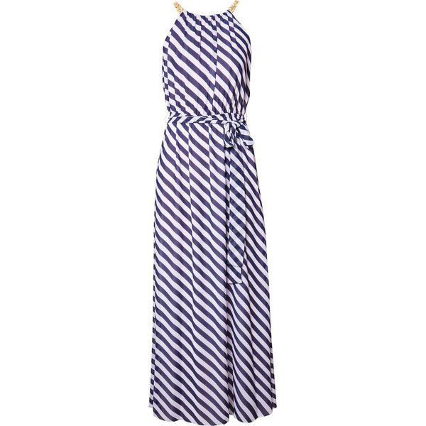 34261cfa89457 MICHAEL Michael Kors CHAIN NECK MAXI DRESS Długa sukienka true navy ...