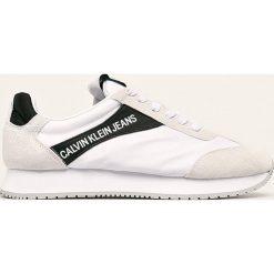 Zabudowane buty sportowe z dzianiny CALVIN KLEIN