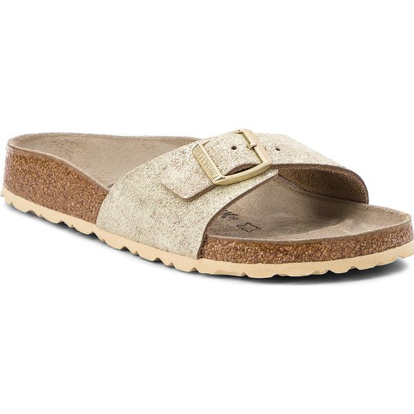 47669fe5f0efb Klapki BIRKENSTOCK - Madrid Bs 1008696 Washed Metallic Cream Gold ...