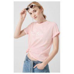 2e459a03c54e92 Colour Pleasure Koszulka damska CP-035 157 biało-różowa r. XS-S ...