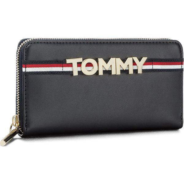 a73590a18a4d8 Duży Portfel Damski TOMMY HILFIGER - Corporate Highlight Leather Za ...