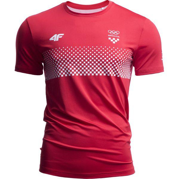 1dcfe7cc5 Koszulka funkcyjna męska Chorwacja Pyeongchang 2018 TSMF750 - czerwony  wiśniowy - Czerwone t-shirty męskie 4F, m, z napisami, z dzianiny, z  dekoltem na ...