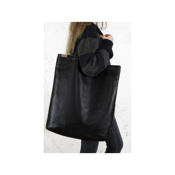 4074549ad44d4 Mega Shopper bag czarna torba oversize Vegan - Czarne shopperki ...