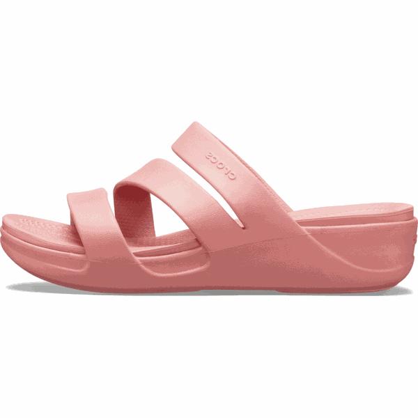 Crocs klapki damskie Monterey Wedge W (206304) 3738 różowe