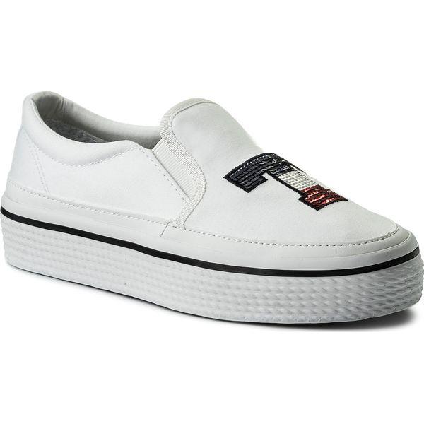 7dd78282d922b Tenisówki TOMMY HILFIGER - Tommy Sequins Flatform Sneaker FW0FW02796 ...