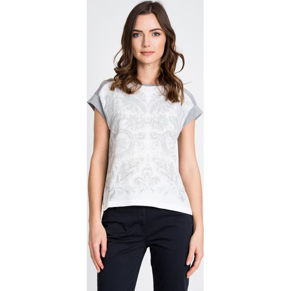 4fc44e46d255 ... cdaa68d4db29 Szara bluzka z wypukłym printem QUIOSQUE - Szare bluzki  damskie .