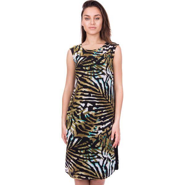 699071a5dc Długa sukienka z szyfonu we wzory BIALCON - Sukienki damskie marki ...