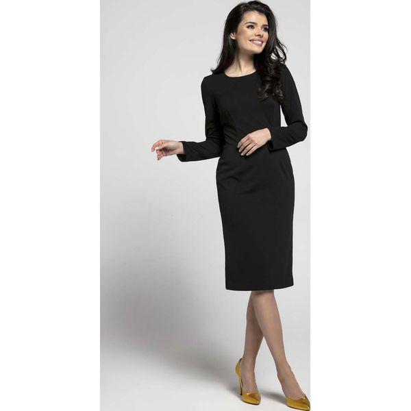 e2bfc79af8 Czarna Klasyczna Dopasowana Sukienka za Kolano - Czarne sukienki ...