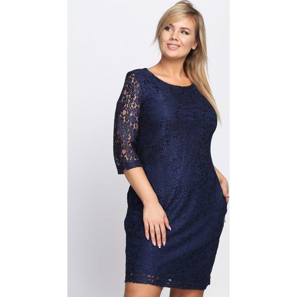 74684fae2a Granatowa Sukienka Ramalama - Niebieskie sukienki damskie marki ...