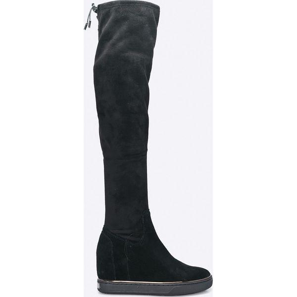d7b7031f91650 Guess Jeans - Kozaki - Czarne botki damskie marki Guess Jeans