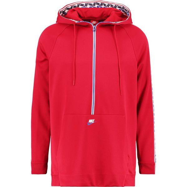 40416c179 Nike Sportswear TAPED HALF ZIP HOOD Bluza z kapturem gym red/gym ...