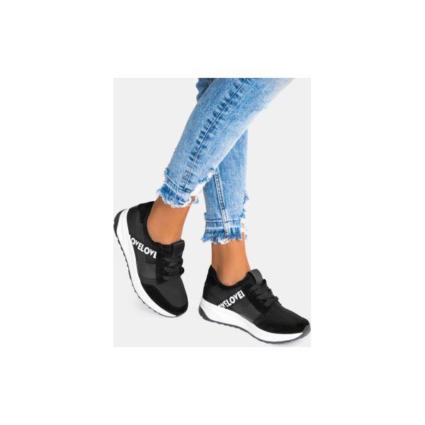 3afc3f1d Czarne buty sportowe Lovelo - Czarne obuwie sportowe damskie DeeZee ...